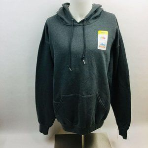 Fruit of the Loom L/S Pullover Hoodie XL Gray
